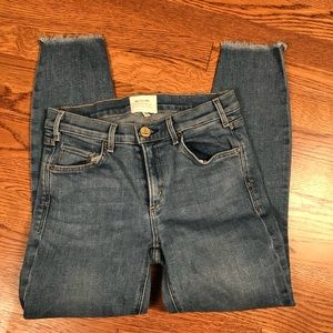 McGuire denim sz 25 mid rise skinny crop jeans